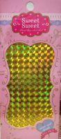 Metalické holografické nálepky na nechty - Pásiky Holo Diamond Gold