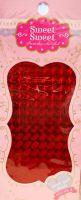 Metalické holografické nálepky na nechty - Pásiky Holo Diamond Red