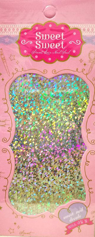 Metalické holografické nálepky na nechty - Pásiky Holo Dots Silver
