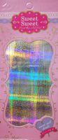Metalické holografické nálepky na nechty - Pásiky Holo Matrix Silver