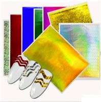 Nálepky na nechty - Wave pásiky 3 veľkosti | Holo Silver , Holo Gold, Silver Flower, Gold Stars, Holo Magenta, Holo Blue, Holo Red, Holo Green