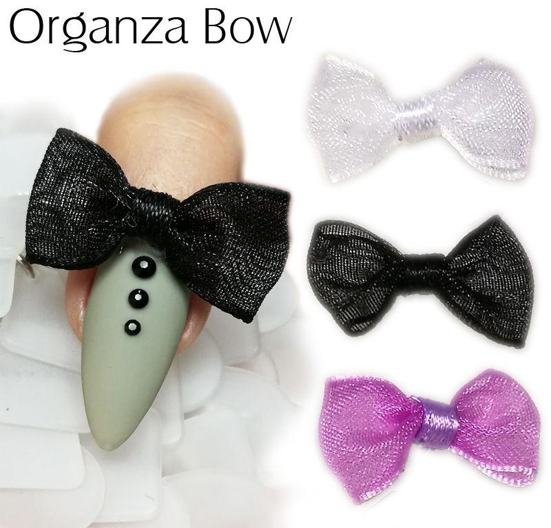 Organza Bow - textilné mašličky na nechty