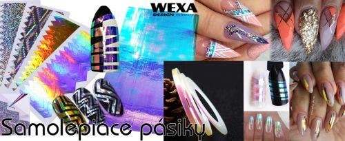 Samolepiaci pásik na nechty - rôzne tvary, rôzne farby