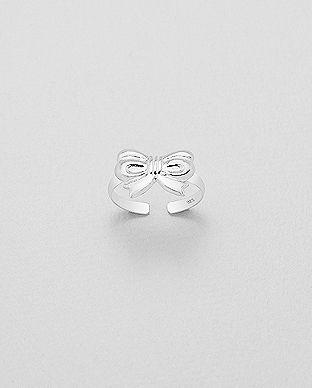 Strieborný mini prstienok Mašlička