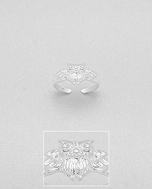 Strieborný mini prstienok Sovička