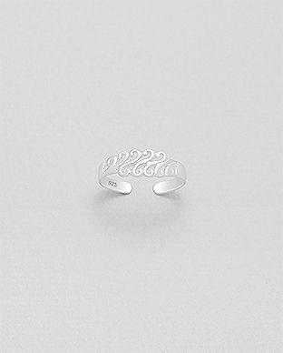 Strieborný mini prstienok Wawe
