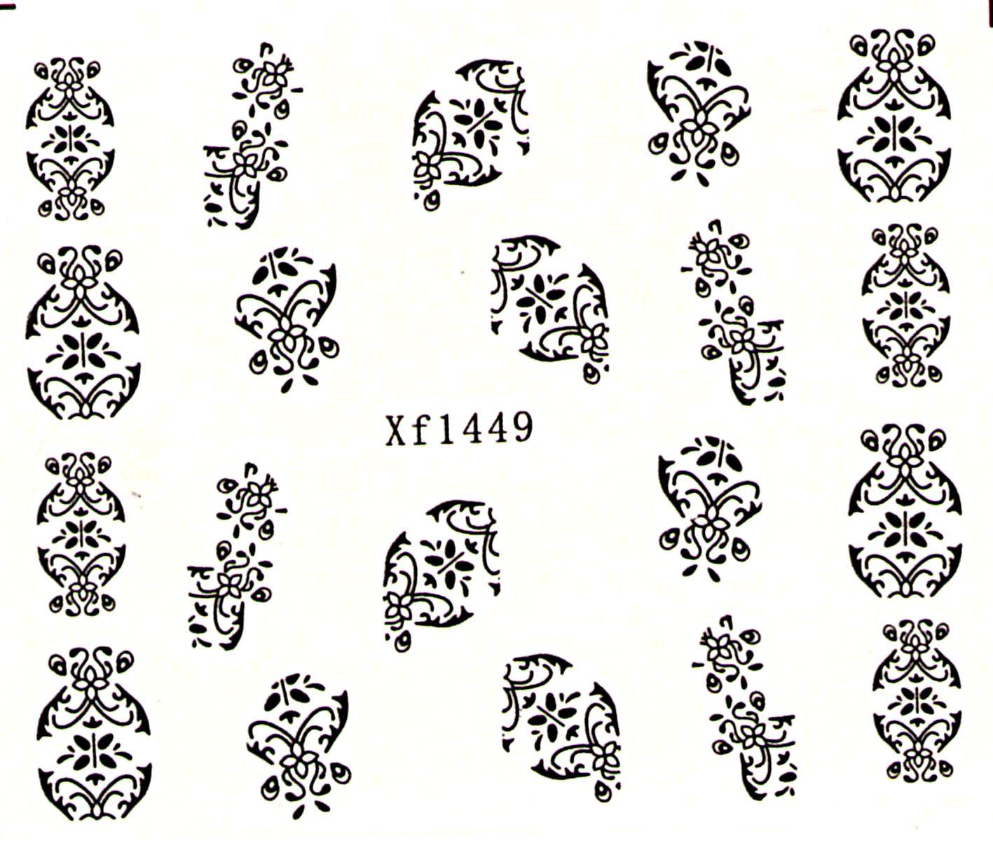 Vodolepky na nechty Ornamenty XF1449