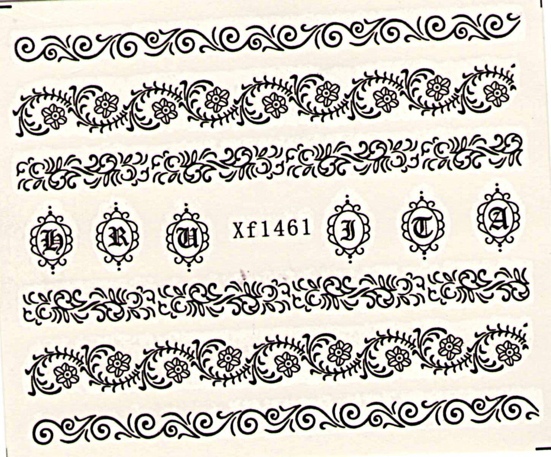 Vodolepky na nechty Čipka XF1461