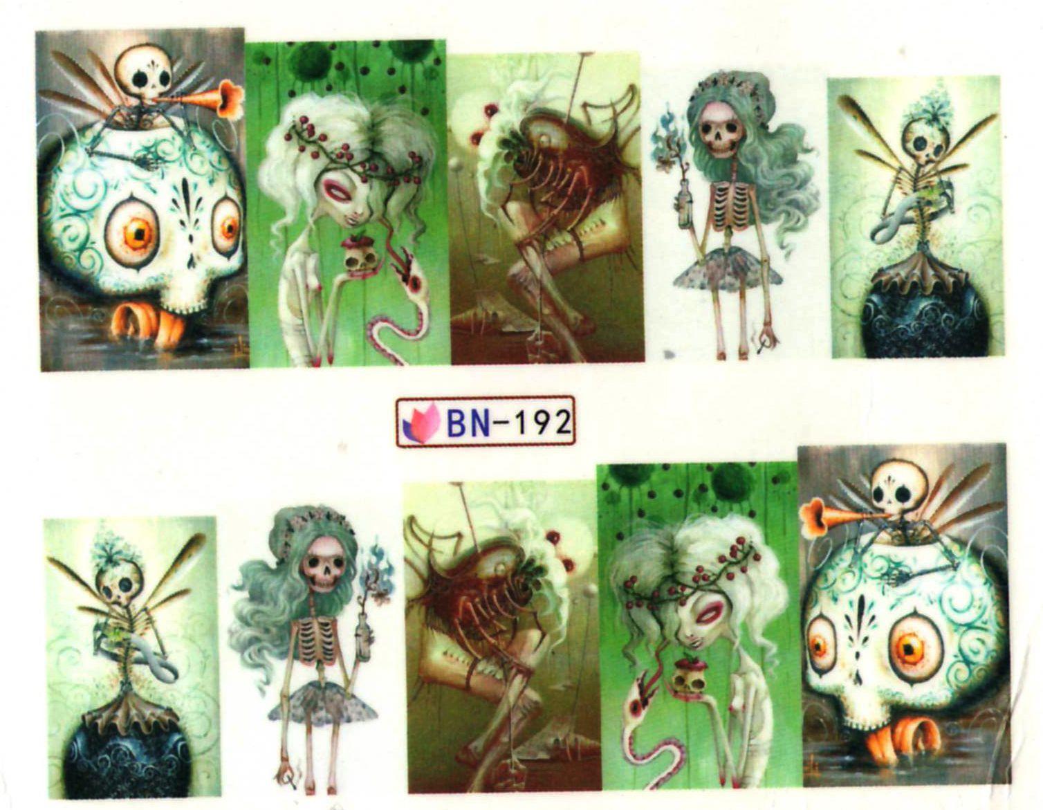 Vodolepky na nechty Halloween BN-192