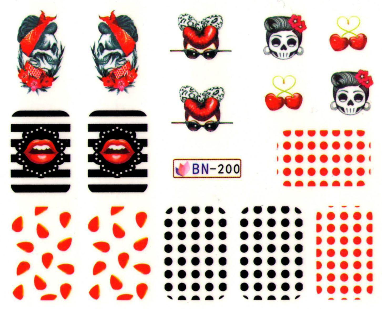 Vodolepky na nechty Halloween BN-200