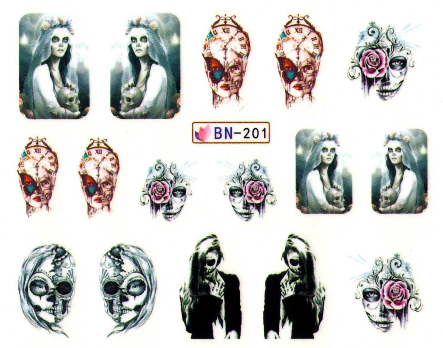 Vodolepky na nechty Halloween BN-201