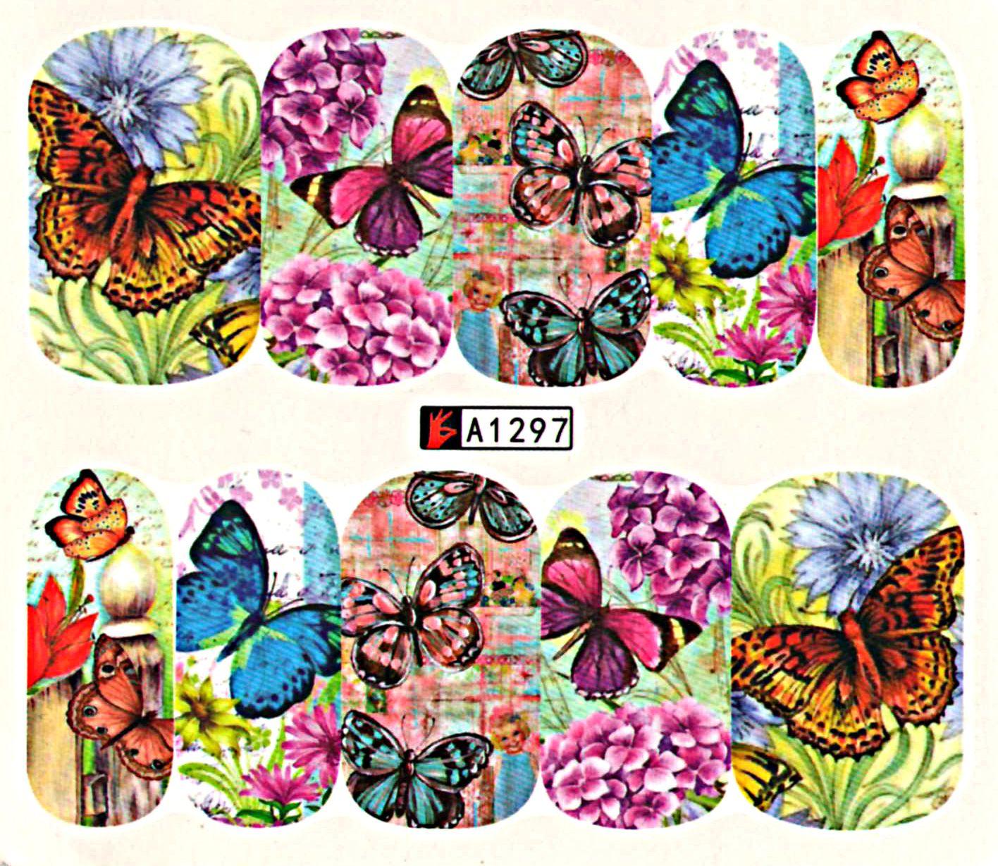 Vodolepky na nechty Motýle A1297