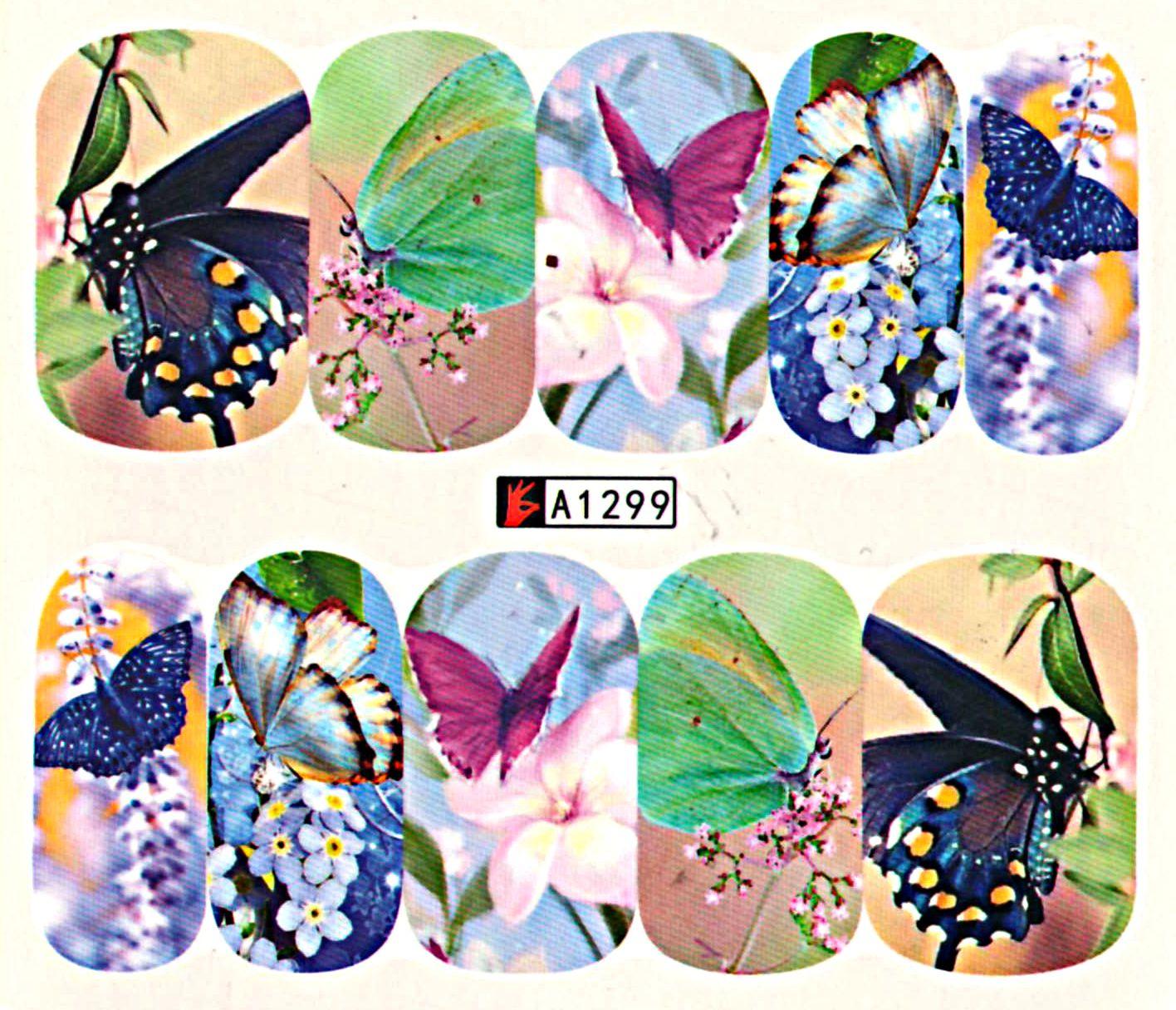 Vodolepky na nechty Motýle A1299