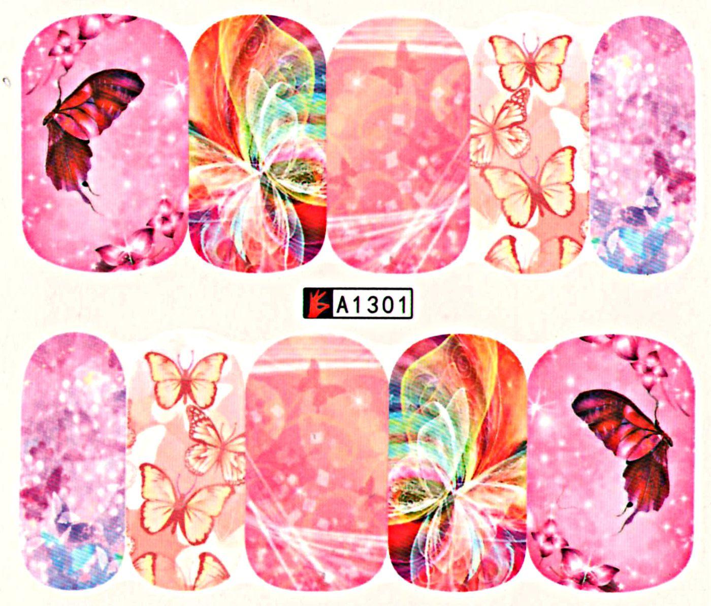 Vodolepky na nechty Motýle A1301