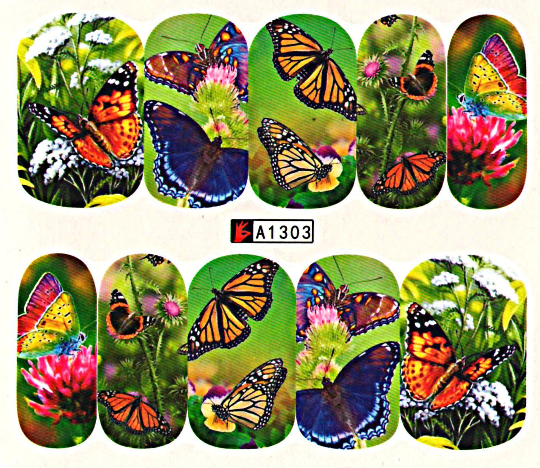 Vodolepky na nechty Motýle A1303