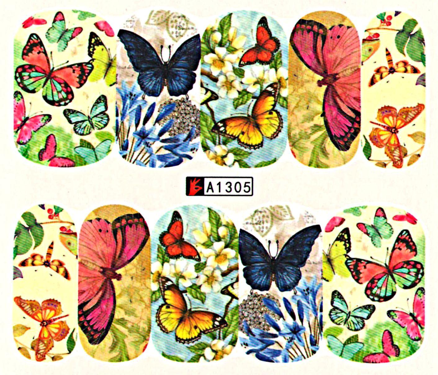 Vodolepky na nechty Motýle A1305