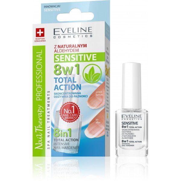 Eveline 8in1 Total Action Sensitive Nail Hardener