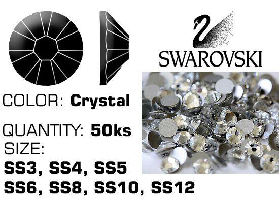 Kamienky na nechty Swarovski F - Crystal
