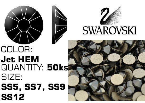 Kamienky na nechty Swarovski F - Jet HEM