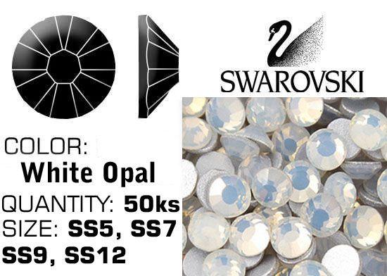 Kamienky na nechty Swarovski F - White Opal