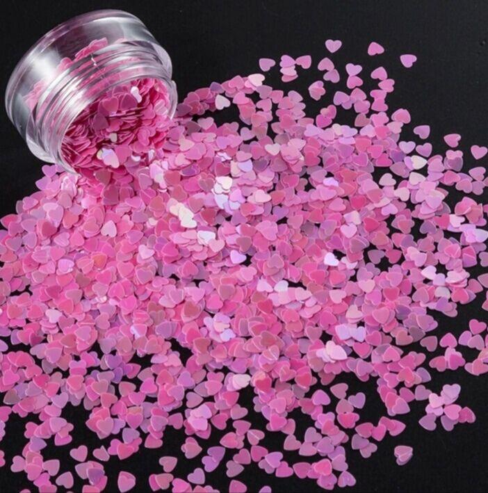 Konfety srdiečka plné slim - 13 ozdoby na nechty valentin