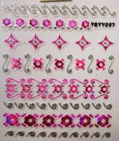 Nálepky Pink Holo YGYY097