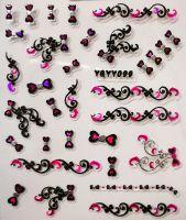 Nálepky Pink Holo YGYY099