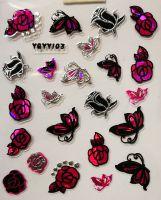 Nálepky Pink Holo YGYY103
