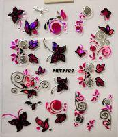 Nálepky Pink Holo YGYY109