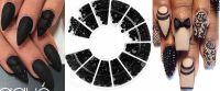 Čierne kamienky na nechty - kolotoč