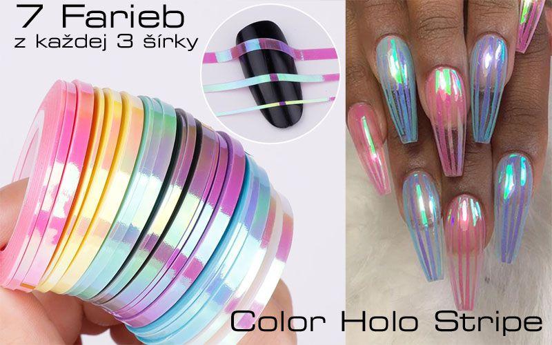 Samolepiaci pásik na nechty Color Holographic
