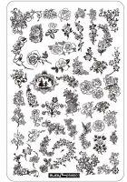 Stamping platnička - plus 003 Flower