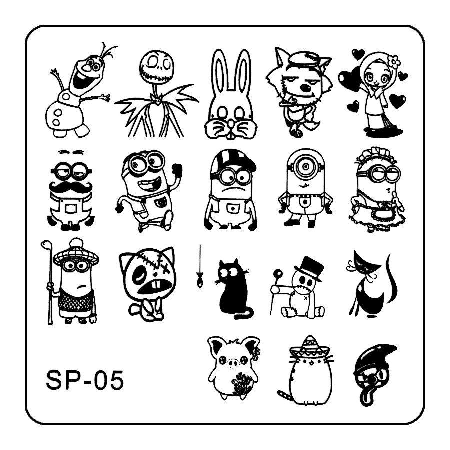 Stamping platnička na nechty - SP005
