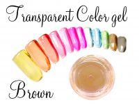 Clear color gel - Brown