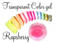 Clear color gel - Rapsberry