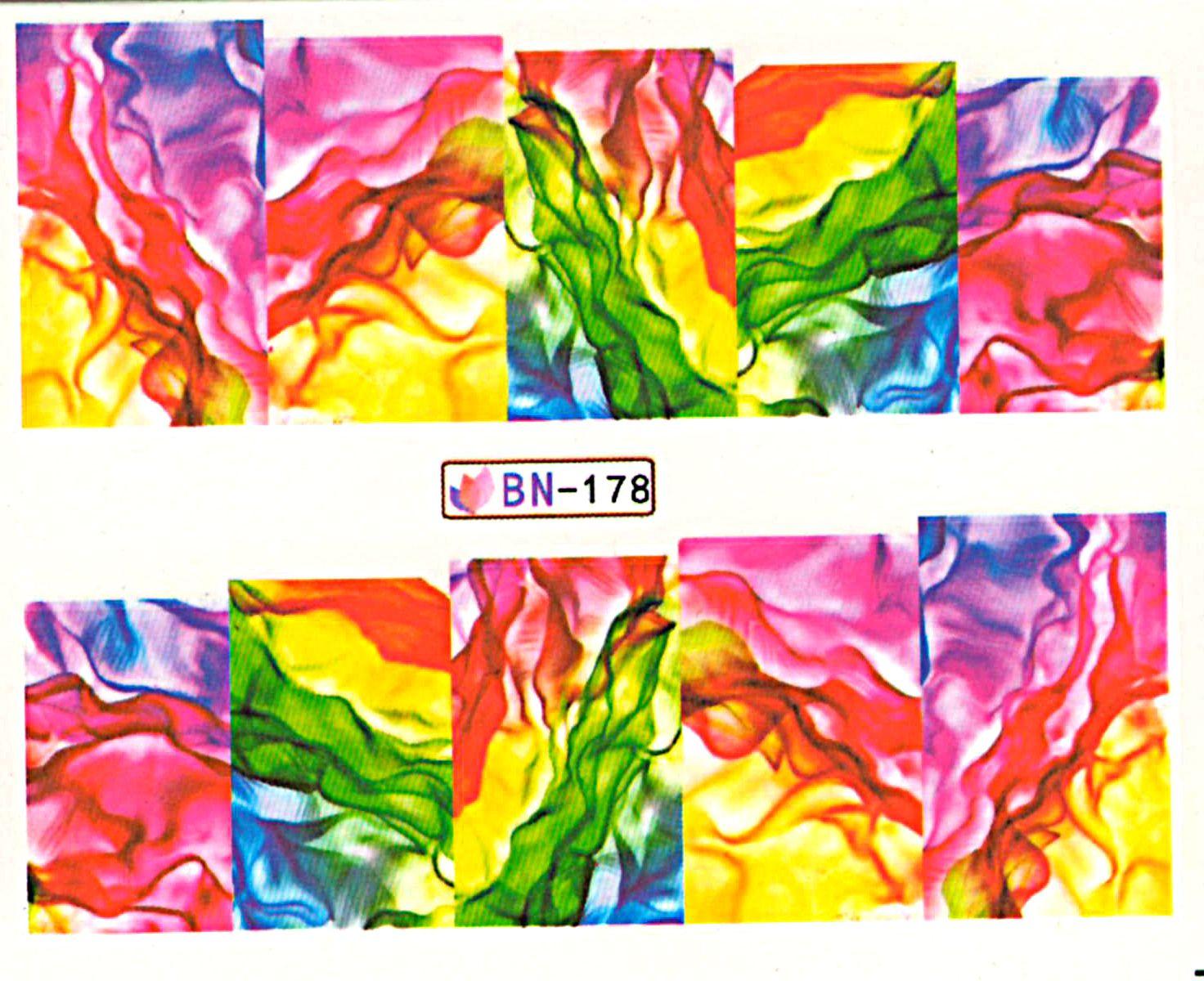Vodolepky na nechty Abstrakt BN-178