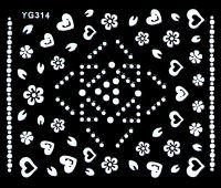 Biele nálepky YG314