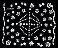Biele nálepky YG320