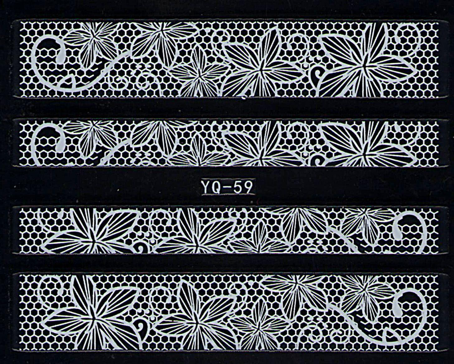 Nálepky na nechty čipky YQ-059