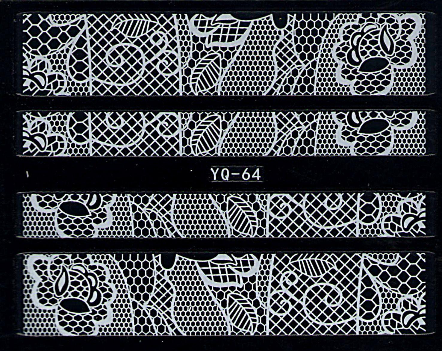 Nálepky na nechty čipky YQ-064