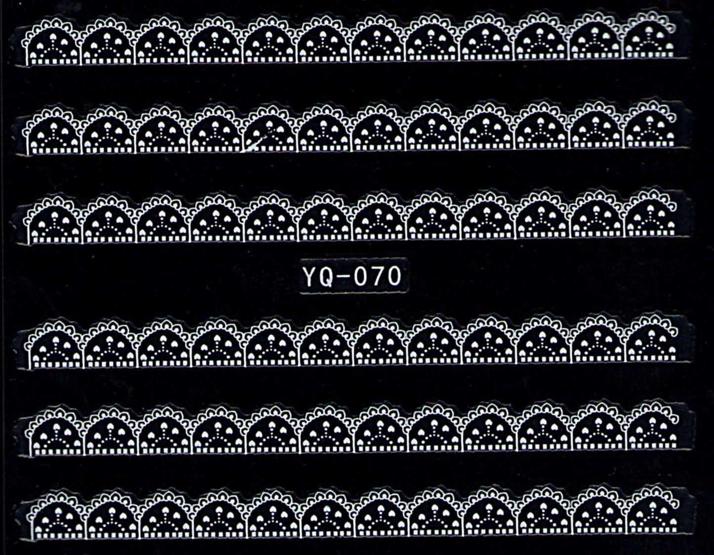 Nálepky na nechty čipky YQ-070