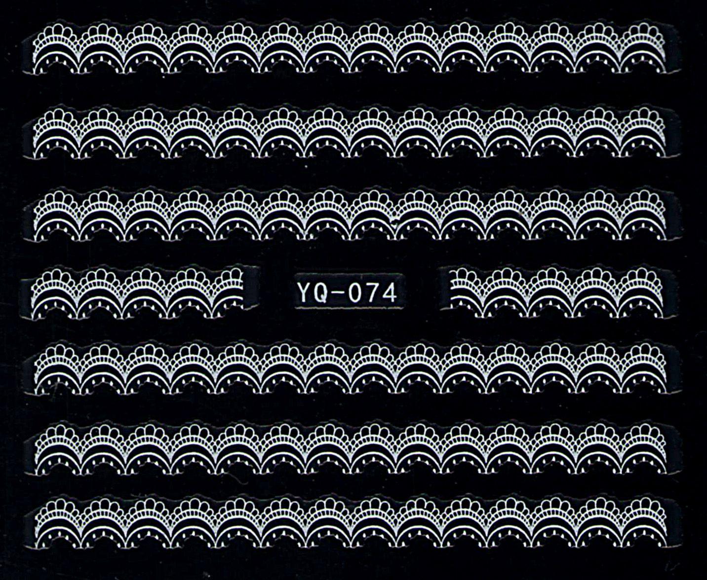 Nálepky na nechty čipky YQ-074