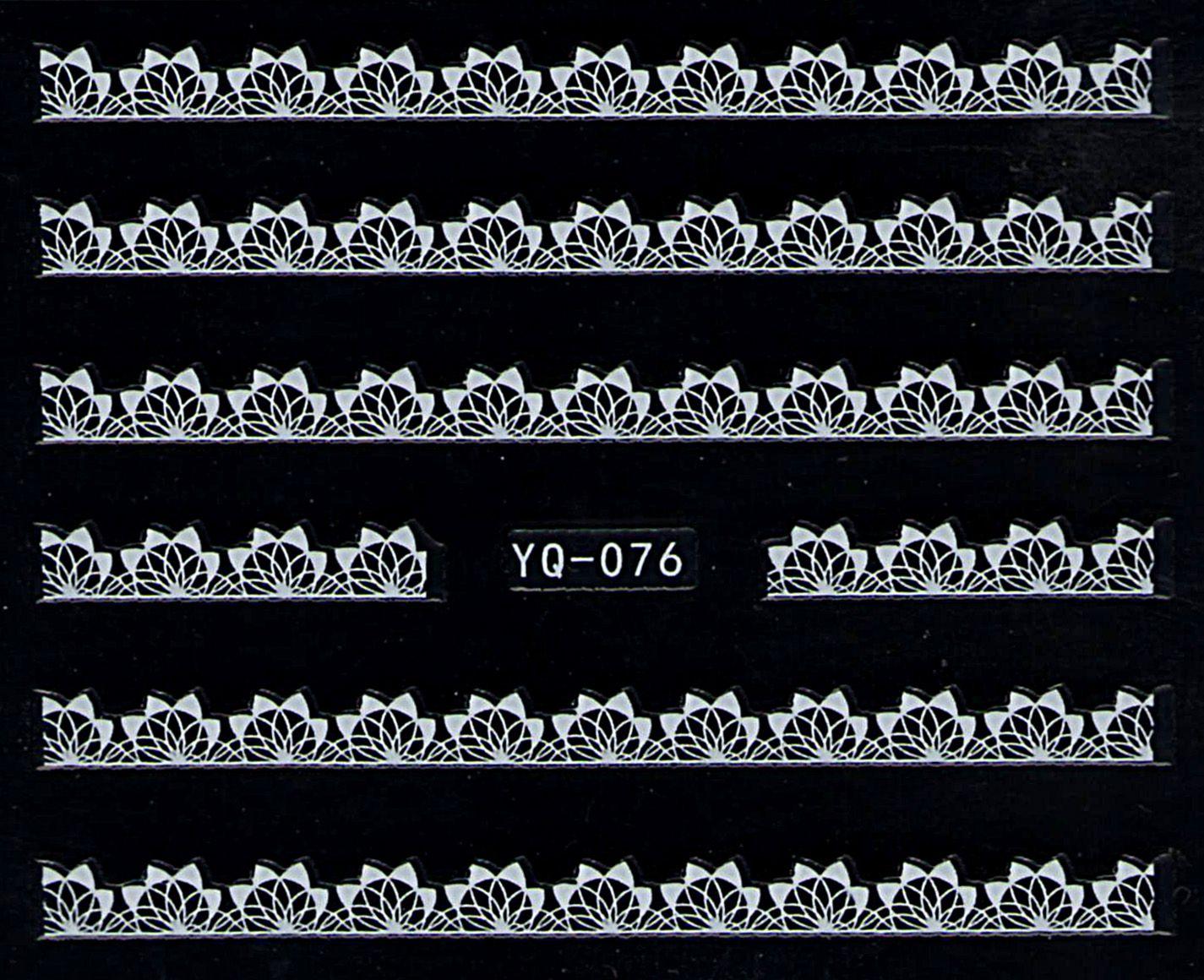 Nálepky na nechty čipky YQ-076