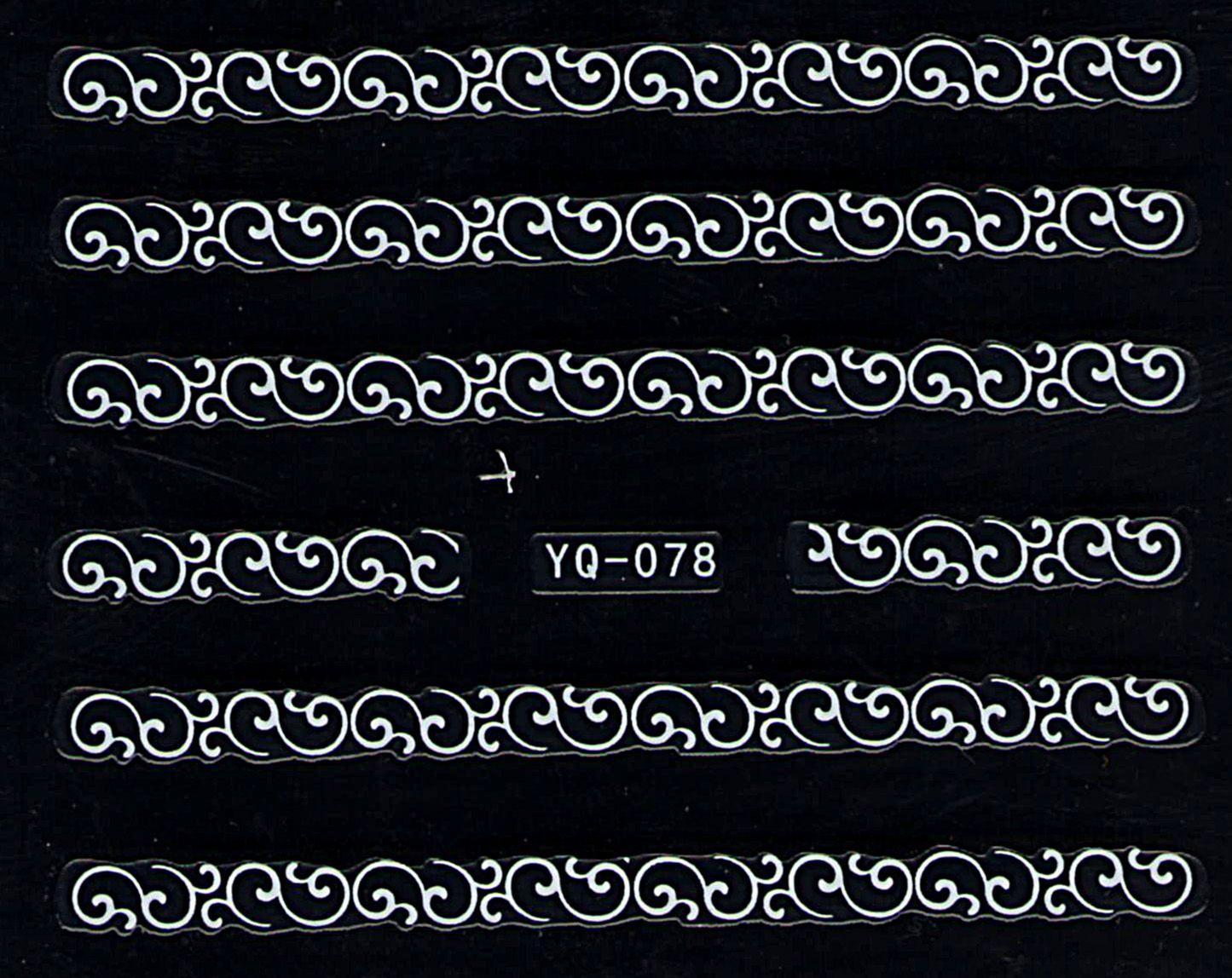 Nálepky na nechty čipky YQ-078