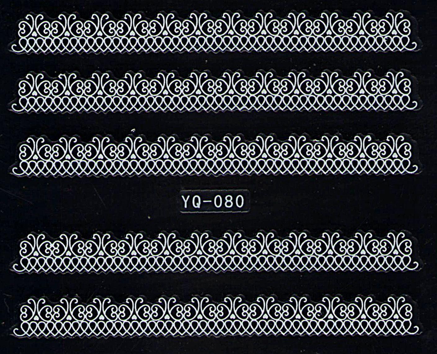 Nálepky na nechty čipky YQ-080