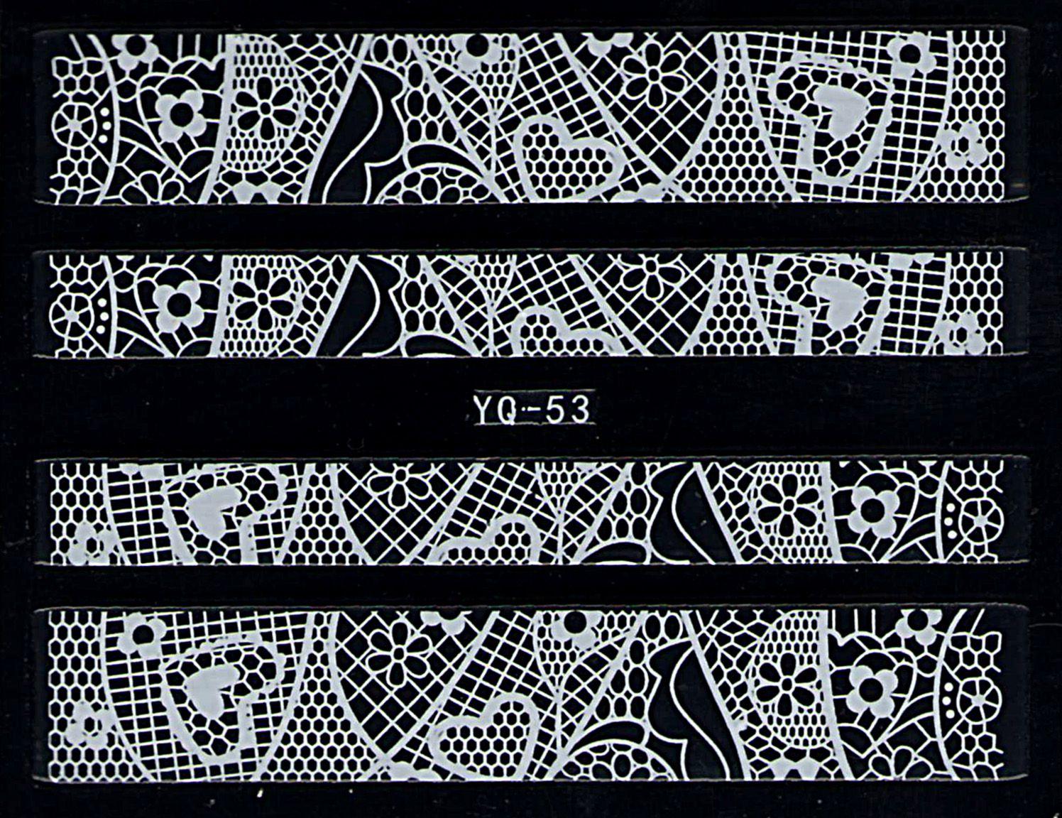 Nálepky na nechty čipky YQ-53