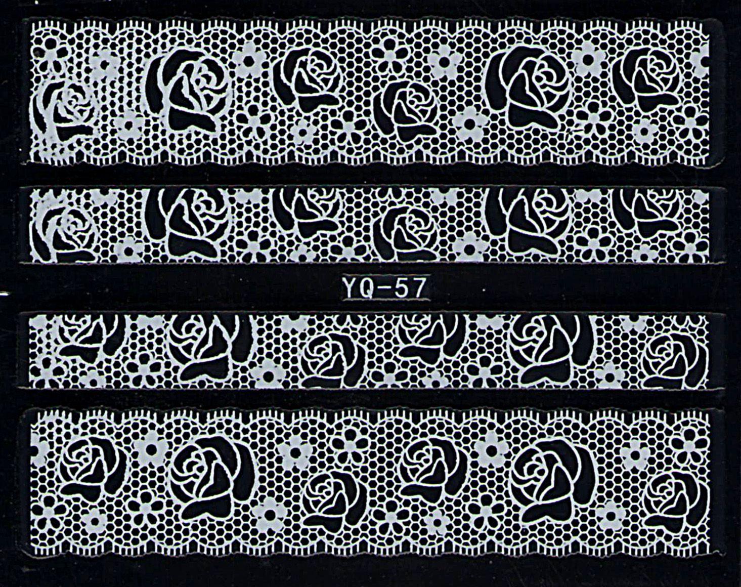 Nálepky na nechty čipky YQ-57