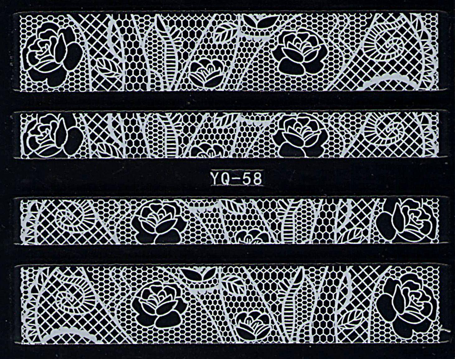 Nálepky na nechty čipky YQ-58