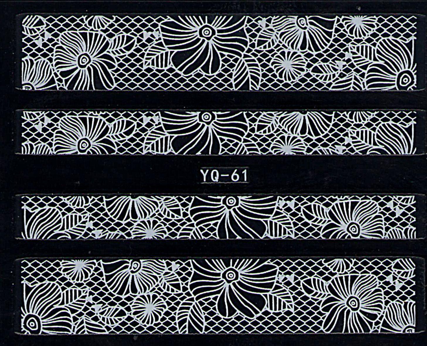 Nálepky na nechty čipky YQ-61