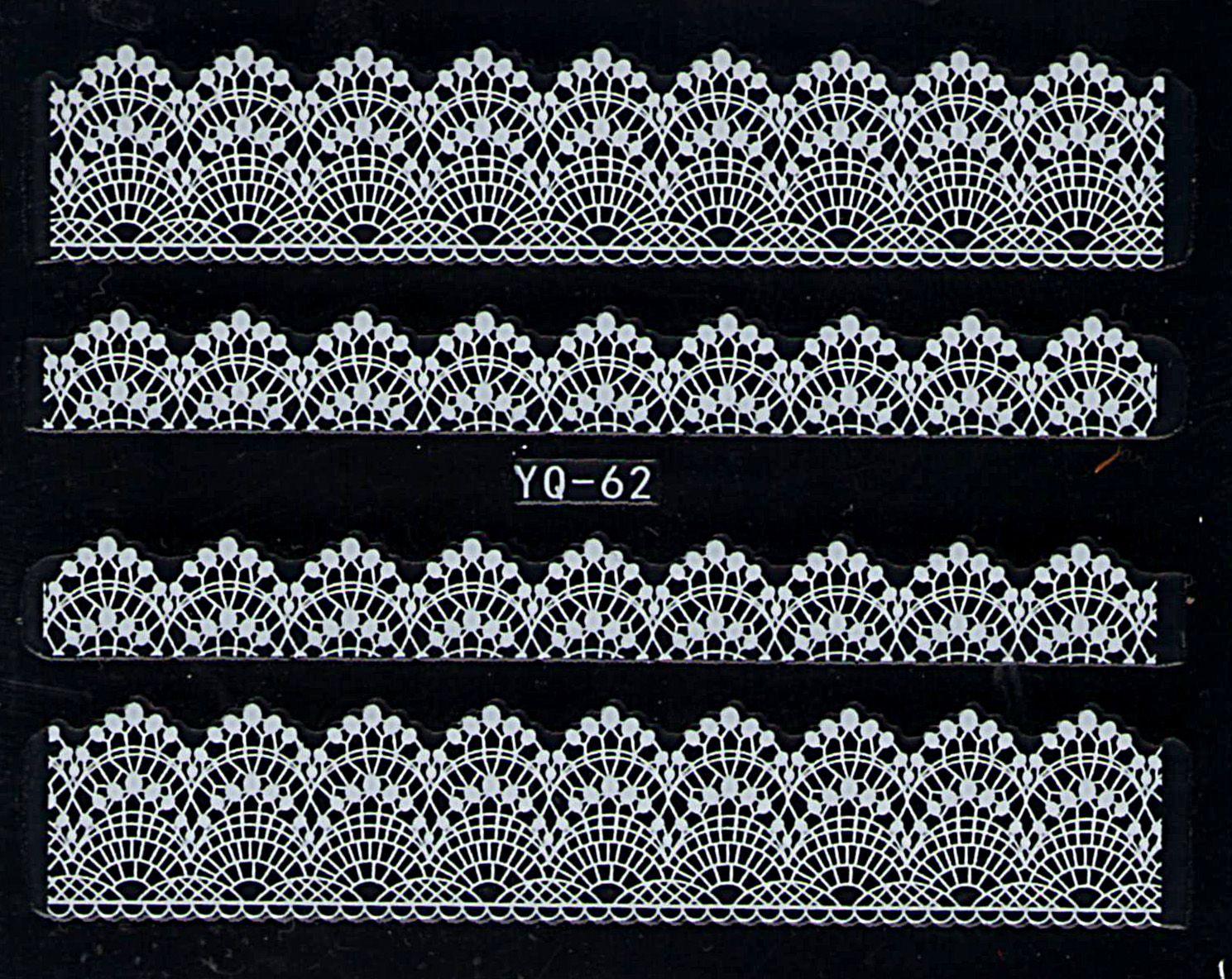 Nálepky na nechty čipky YQ-62